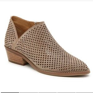 Lucky Brand Frankela Suede Ankle Booties 7.5